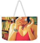 Lady In Read Weekender Tote Bag