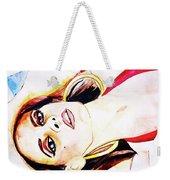 Lady In Red Framed Watercolour Painting Weekender Tote Bag