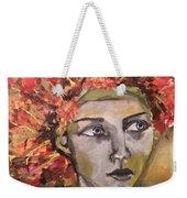 Lady In Red Headdress Weekender Tote Bag