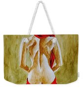 Lady In Red Three Weekender Tote Bag