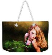 Lady In The Ferns Weekender Tote Bag