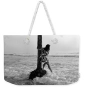 Lady In The Surf Weekender Tote Bag