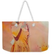 Lady In Yellow Weekender Tote Bag