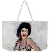Lady Jane With Red Lipstick Weekender Tote Bag