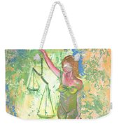 Lady Justice And The Man Weekender Tote Bag