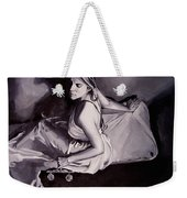 Lady Justice  Black And White Weekender Tote Bag