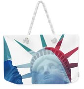 Lady Liberty With French Flag Weekender Tote Bag