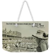 Lady Of The Derby Quote Weekender Tote Bag