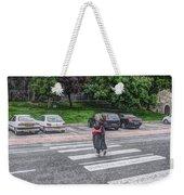 Lady On A Crossing Weekender Tote Bag