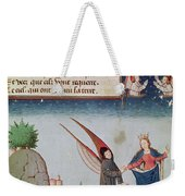 Lady Philosophy Leads Boethius In Flight Into The Sky On The Wings That She Has Given Him Weekender Tote Bag