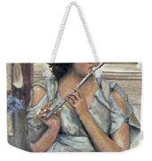 Lady Playing Flute Weekender Tote Bag