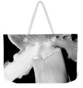 Lady Slipper Orchid Black And White Weekender Tote Bag