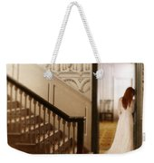 Lady Standing In A Doorway Weekender Tote Bag