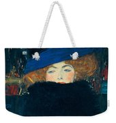 Lady With A Hat And A Feather Boa Weekender Tote Bag