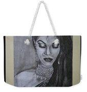 Lady With Bridal Jewelry Weekender Tote Bag