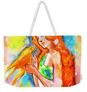 Lady With Canary Weekender Tote Bag