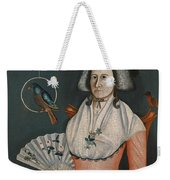 Lady With Her Pets. Molly Wales Fobes Weekender Tote Bag