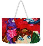 Lady With The Red Hat Weekender Tote Bag