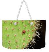 Ladybug On Cactus Weekender Tote Bag