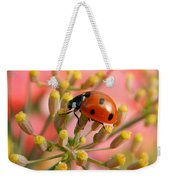 Ladybug On Fennel Weekender Tote Bag