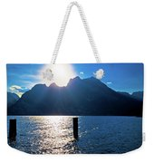Lago Di Garda At Sunset View Weekender Tote Bag