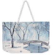 Lagoon Under Snow Weekender Tote Bag