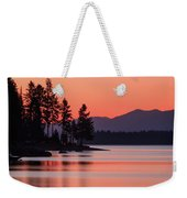 Lake Almanor Twilight Weekender Tote Bag