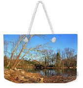 Lake And Trees In Early Spring Weekender Tote Bag