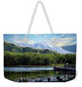 Lake And Volcano Weekender Tote Bag