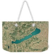 Lake Balaton 3d Render Satellite View Topographic Map Weekender Tote Bag