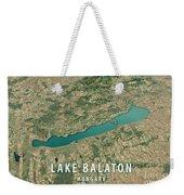 Lake Balaton 3d Render Satellite View Topographic Map Horizontal Weekender Tote Bag