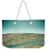 Lake Balaton 3d Render Satellite View Topographic Map Vertical Weekender Tote Bag