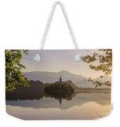 Lake Bled At Sunrise Weekender Tote Bag