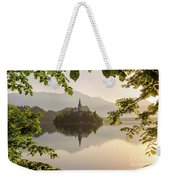 Lake Bled In The Morning Weekender Tote Bag