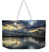 Lake Bled Sunset Weekender Tote Bag