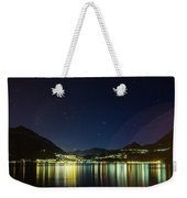 Lake Como Night Reflections Weekender Tote Bag