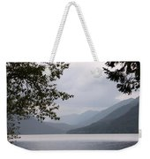 Lake Crescent Through The Trees Weekender Tote Bag