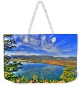 Lake Dillon Blue Weekender Tote Bag