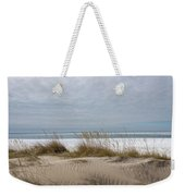 Lake Erie Sand Dunes Dry Grass And Ice Weekender Tote Bag