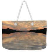 Lake Front Sunset Weekender Tote Bag