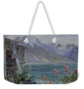 Lake Geneva Weekender Tote Bag by John William Inchbold