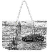 Lake Huron Shoreline 10 Bw Weekender Tote Bag