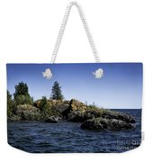 Lake Huron Shoreline Cedarville Michigan Weekender Tote Bag