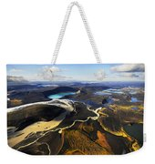 Lake In An Old Volcanic Crater Or Weekender Tote Bag