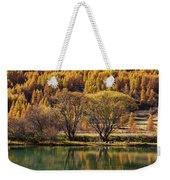 Lake In Autumn - 3 - French Alps Weekender Tote Bag