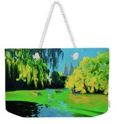 Lake In Central Park Ny Weekender Tote Bag