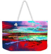 Lake In Red Weekender Tote Bag