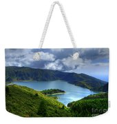Lake In The Azores Weekender Tote Bag
