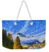Lake In The Middle Of Swiss Beauty Weekender Tote Bag