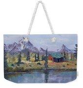 Lake Jenny Cabin Grand Tetons Weekender Tote Bag